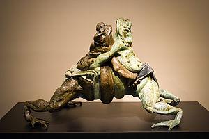 Sumo Frogs Sculpture