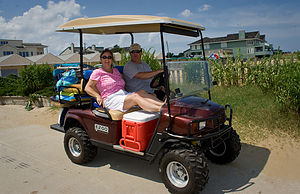 Dona & Scott with their Beach Buggy