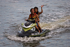 Andrew and Lolo on Jet Ski