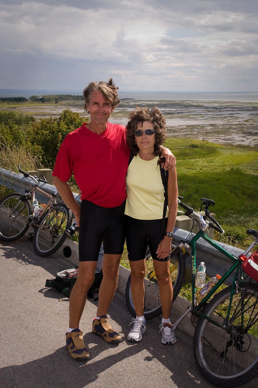 Mom and Dad biking round the Isle - AJG
