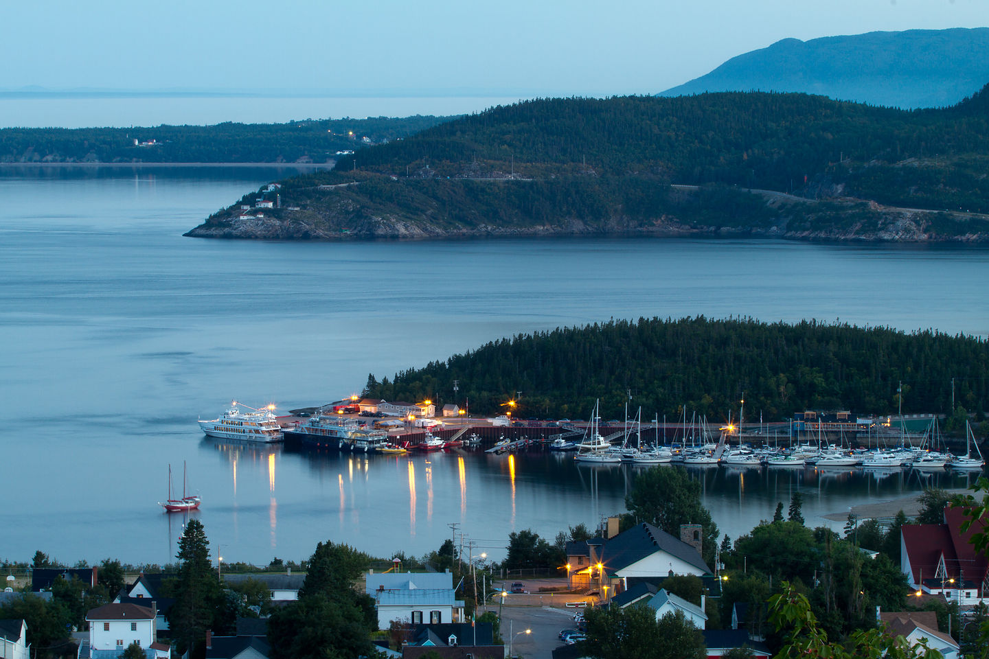 View of Tadoussac Village from Campground - TJG
