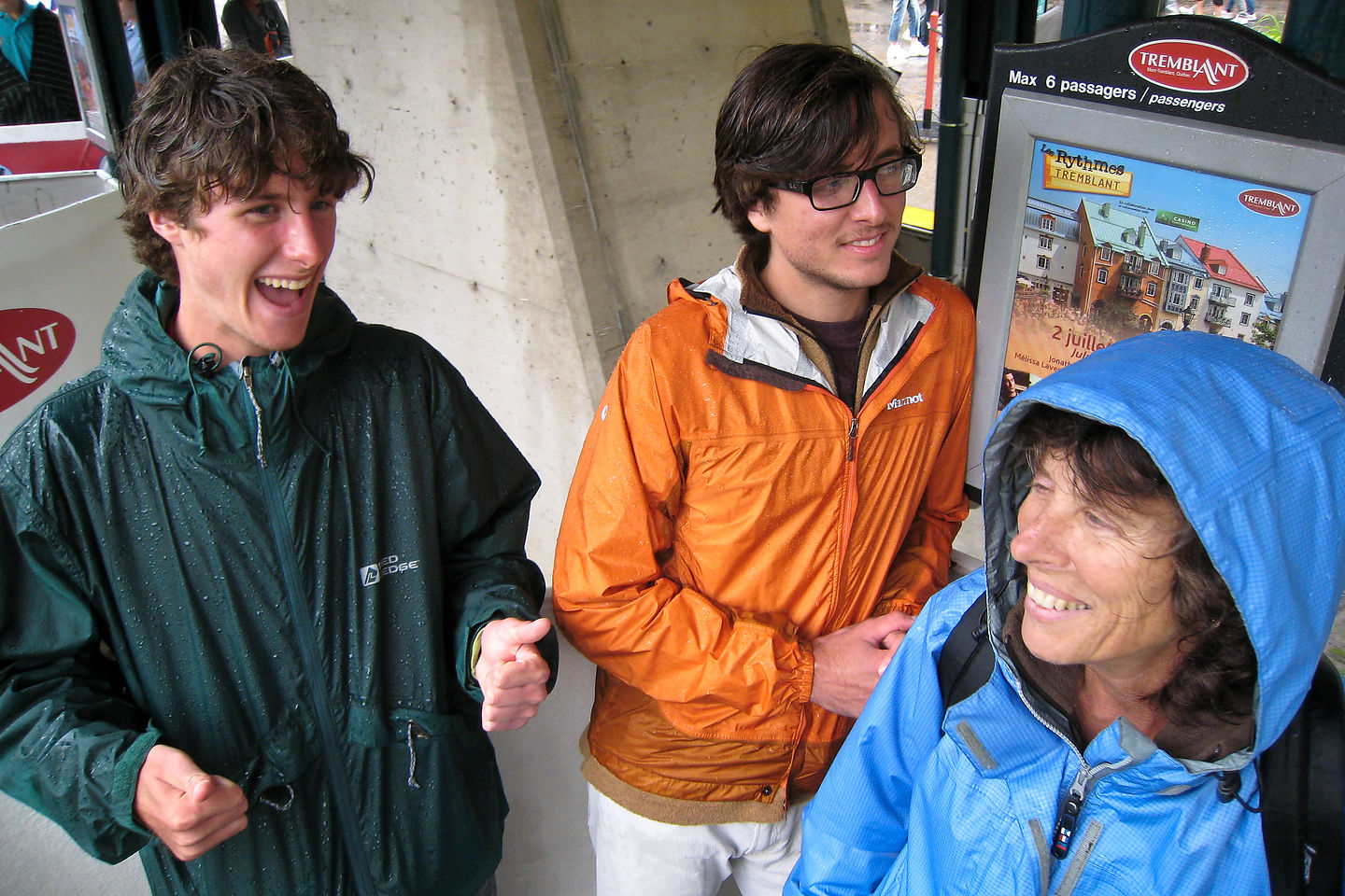Lolo and Boys at Mont-Tremblant Station Gondola