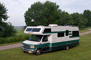 Lake Anita camping on lawn