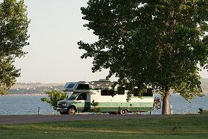 Lake McConaughy camping on bluff