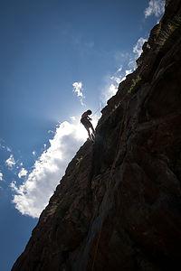 Tom descending Clear Creek Canyon climb - AJG