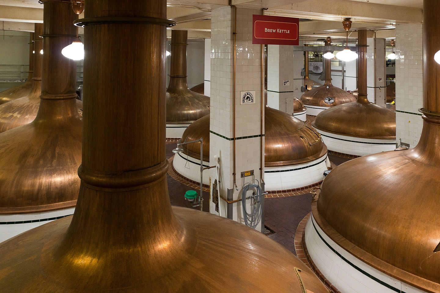 Coors tour brew kettles