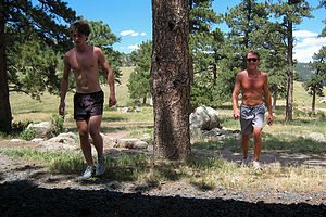Herb and Tom after running Canyon Loop Trail