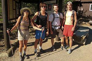 Gang at start of Longs Peak Chasm Lake hike
