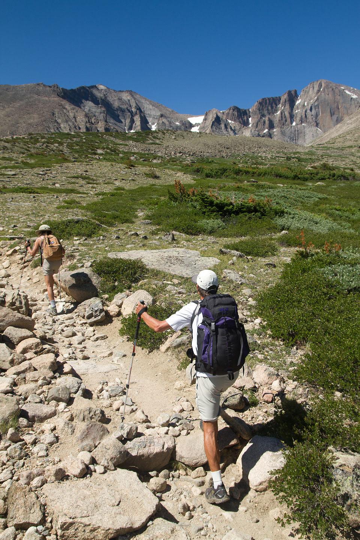 Mom and Dad on Chasm Lake hike - TJG