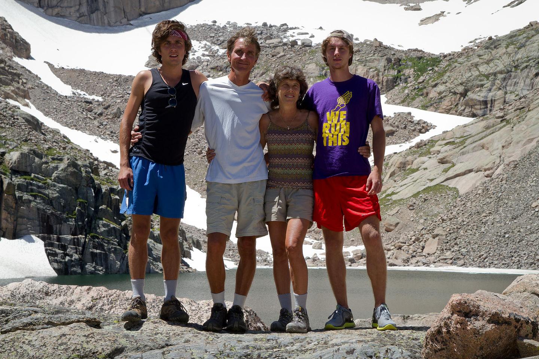 Family closeup at Chasm Lake