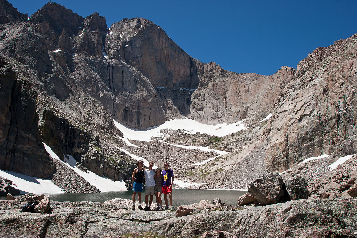 Family at Chasm Lake