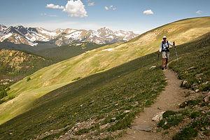 Herb hiking Mt. Ida trail