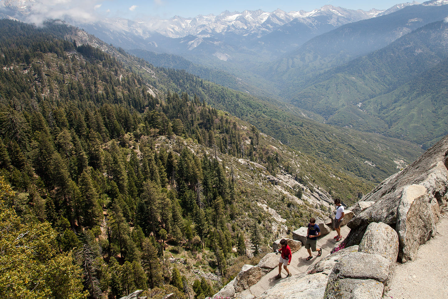 Descent from Moro Rock