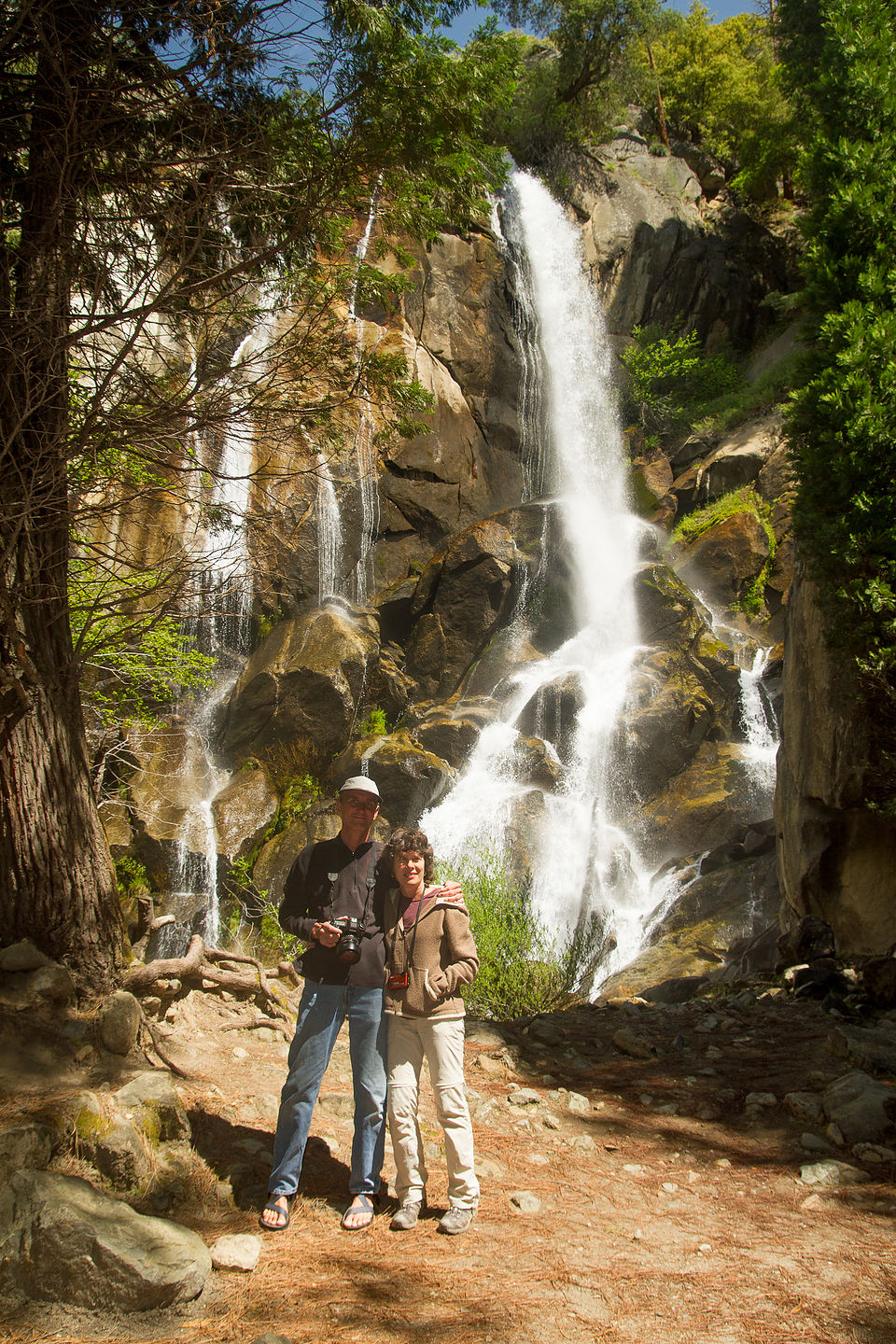 Mon and Dad by Waterfall - TJG