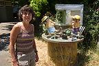 Mom with Florence Street Sculptures - TJG