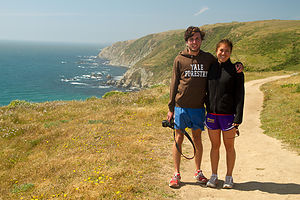 Andrew and Celeste on Trail