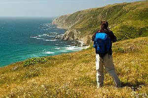 Dad Photographing Point Reyes Seashore - TJG