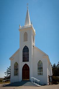 """Bodega Bay Church - Hitchcock's """"The Birds"""" - AJG"""