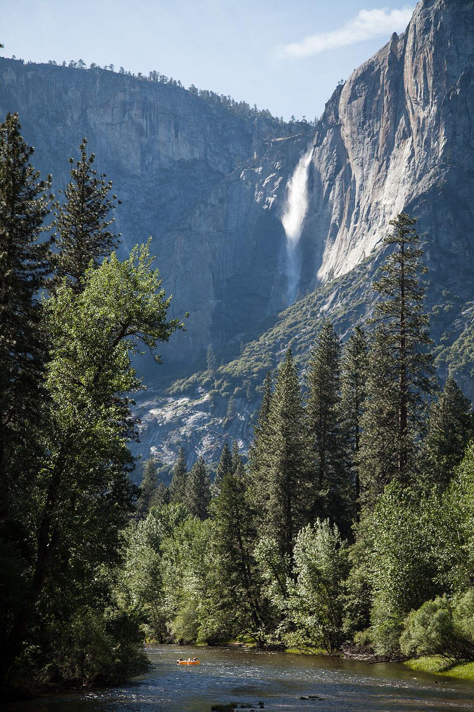 Yosemite Falls from Housekeeping Camp Bridge