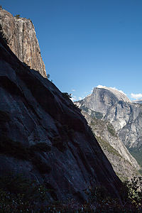 Half Dome from Yosemite Falls Hike