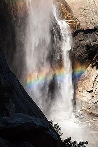 Rainbow at Base of Yosemite Falls