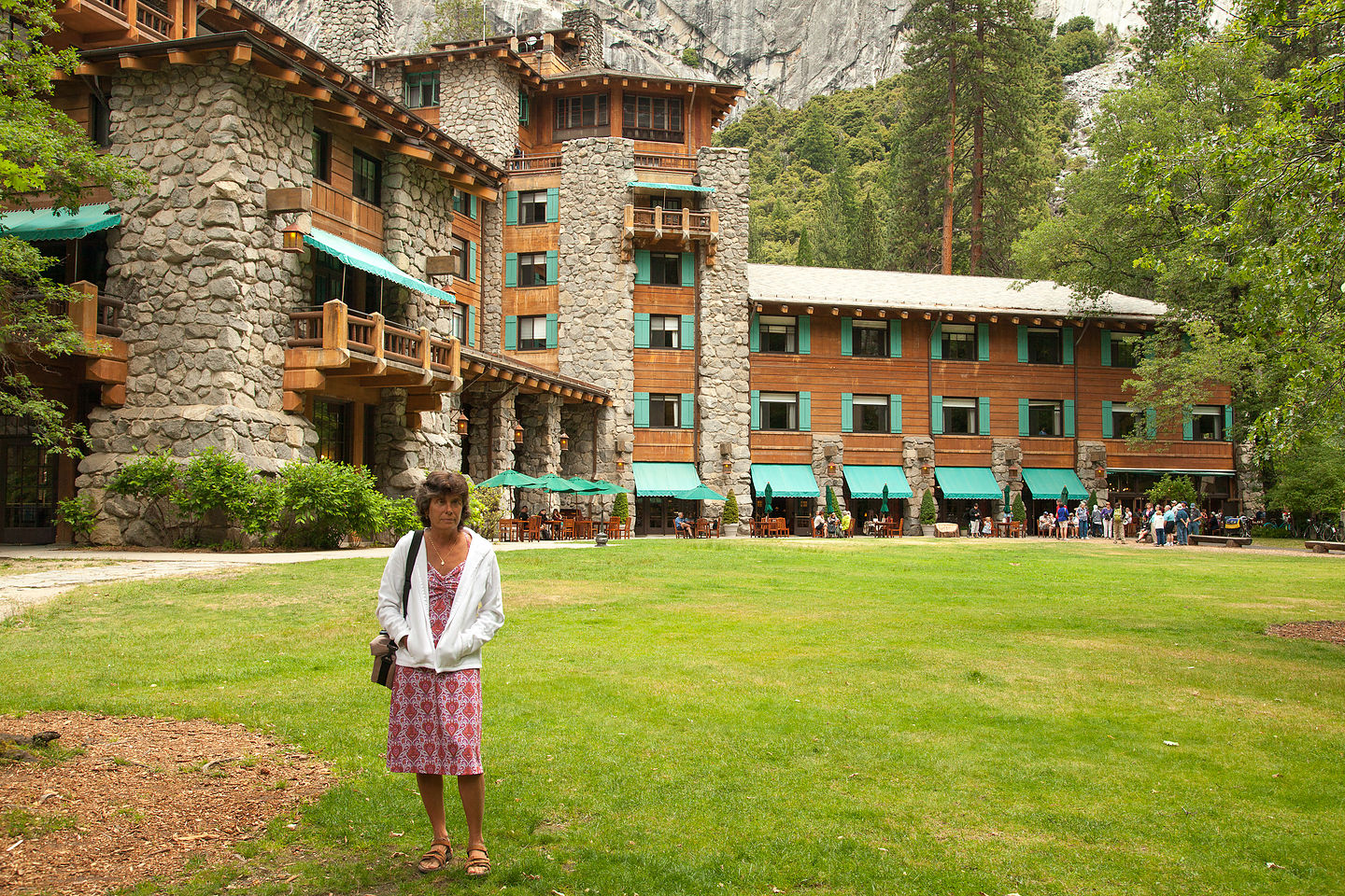 Lolo post lunch at the Ahwahnee