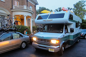 The Caravan arrives at Jim and Bev's