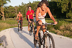 Biking to Beach at Lake Anita - AJG