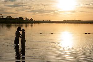 Andrew and Celeste at Lake Anita Sunset