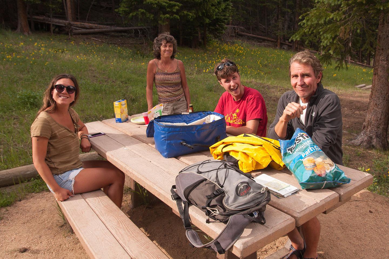 Picnicking at Hidden Valley
