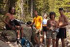Rest Break on Hike to Lake Helene