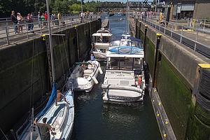 Boats in Chittenden Locks