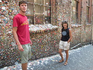 Tom and Lolo at Gum Alley