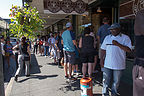 "Line at the ""Original"" Starbucks"