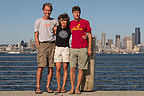 Herb, Lolo, and Tom on Alki Beach Bike Path