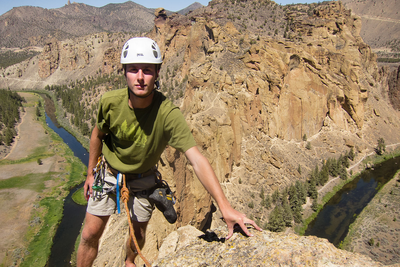 "Tom at Summit of ""Wherever I May Roam"""