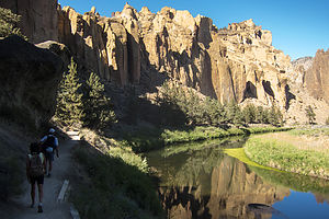 Herb and Lolo Hiking at Smith Rock - TJG