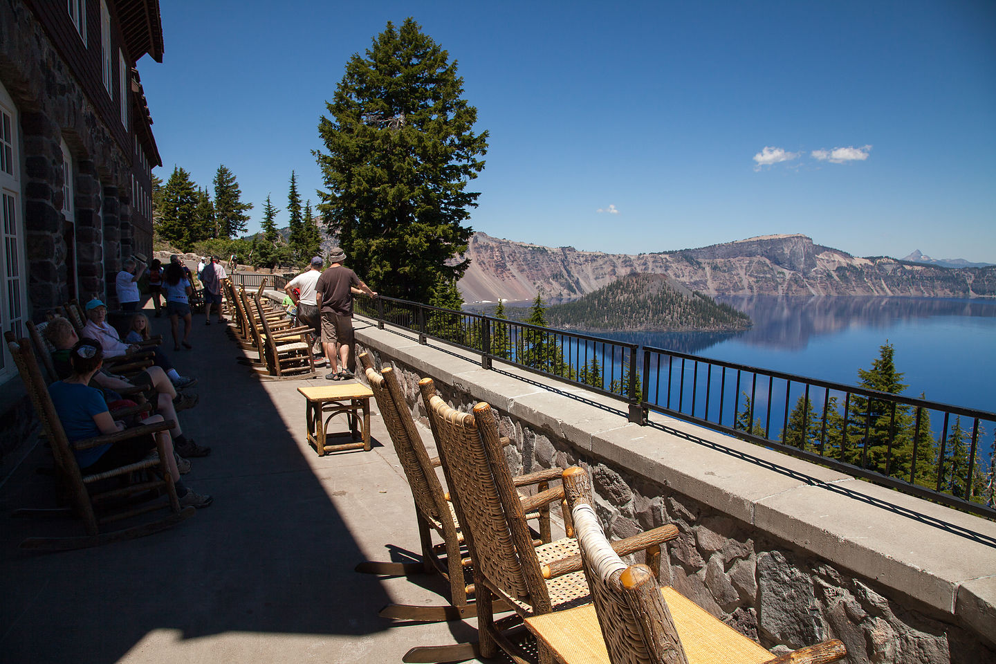 View from Crater Lake Inn Porch