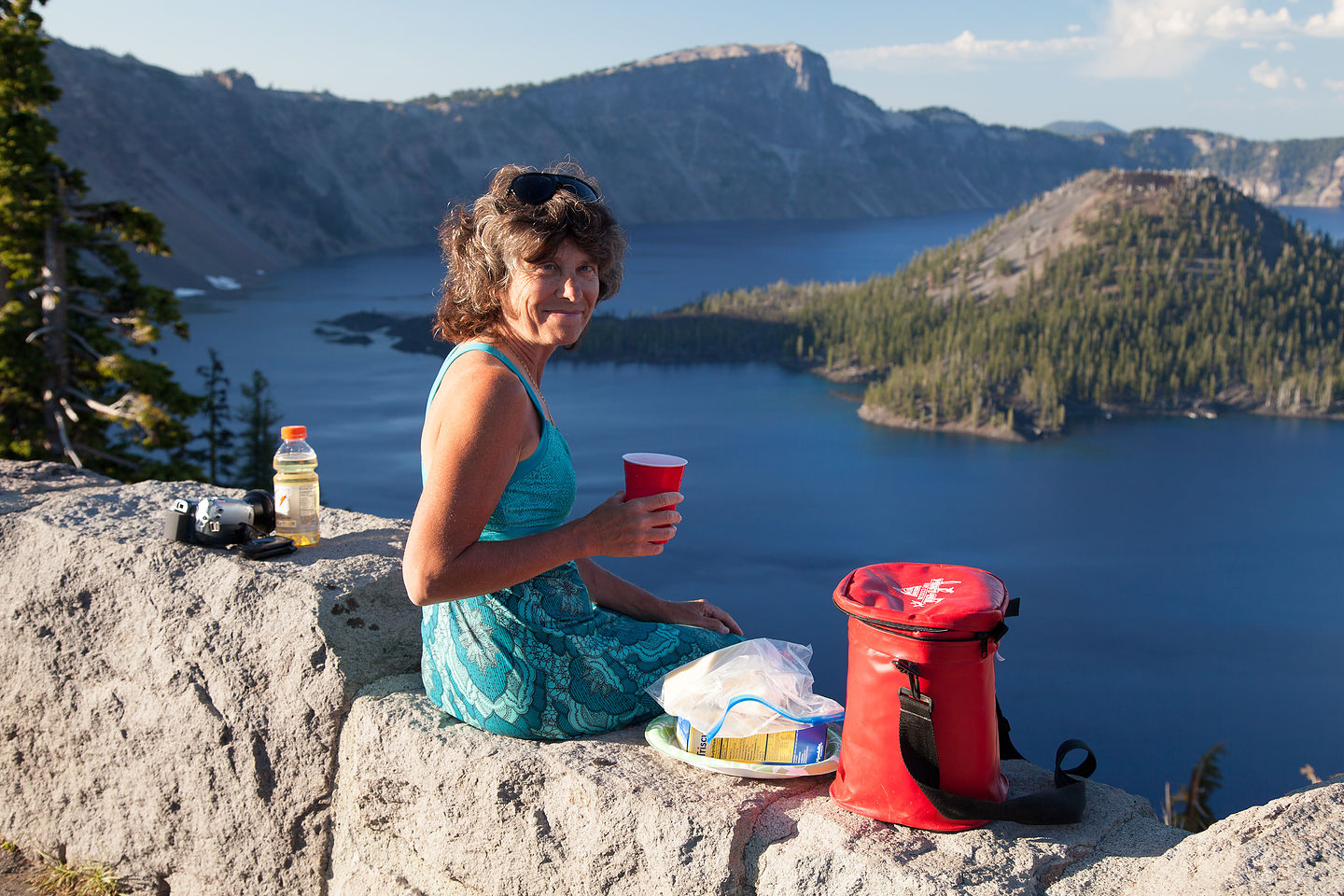 Sunset Wine and Cheese at Crater Lake Overlook