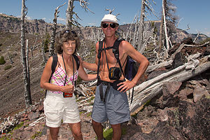 Lolo and Herb at Summit of Wizard Island