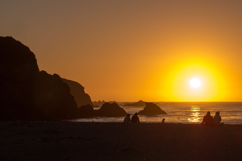 Caspar Beach Sunset