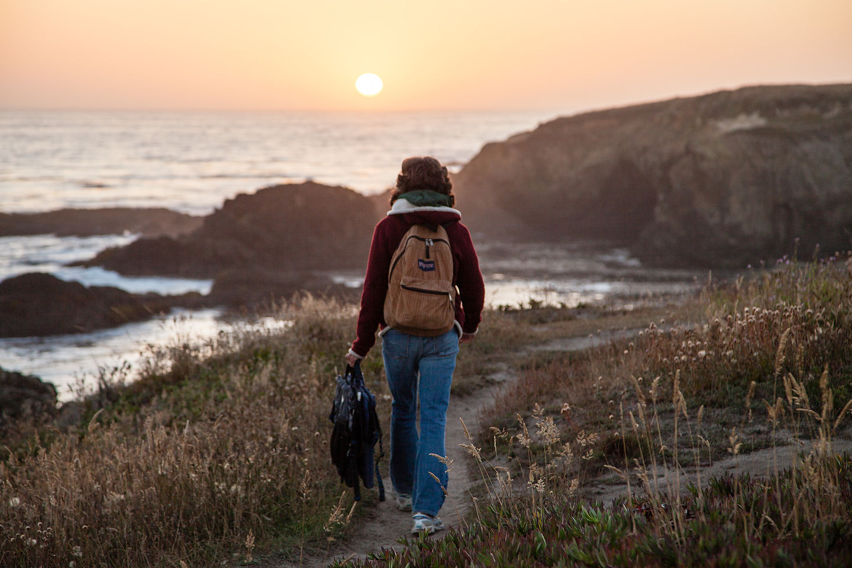 Hiking towards the Headlands Sunset