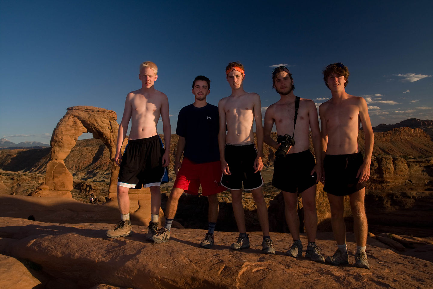 Group Picture in Front of Delicate Arch