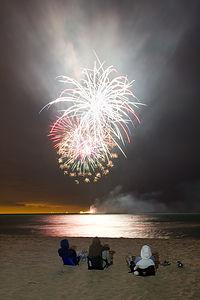 Fireworks Over Lake Michigan