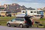 Van Parked By Campsite