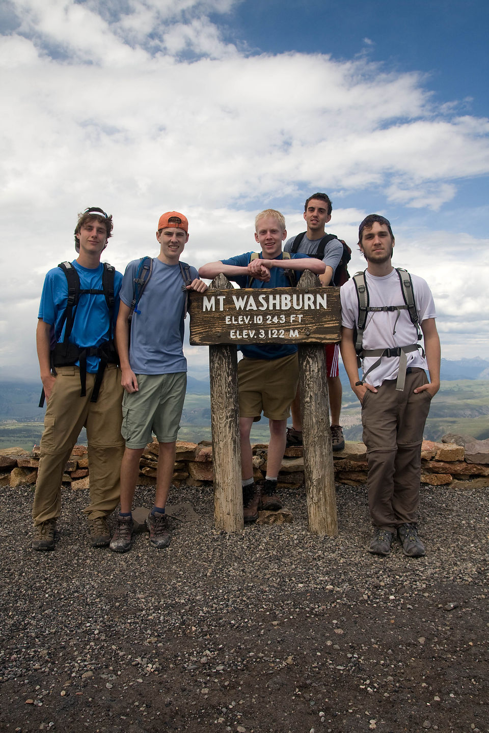 Group Picture on Mount Washburn