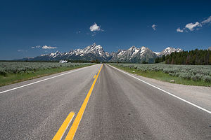 Road up to Tetons