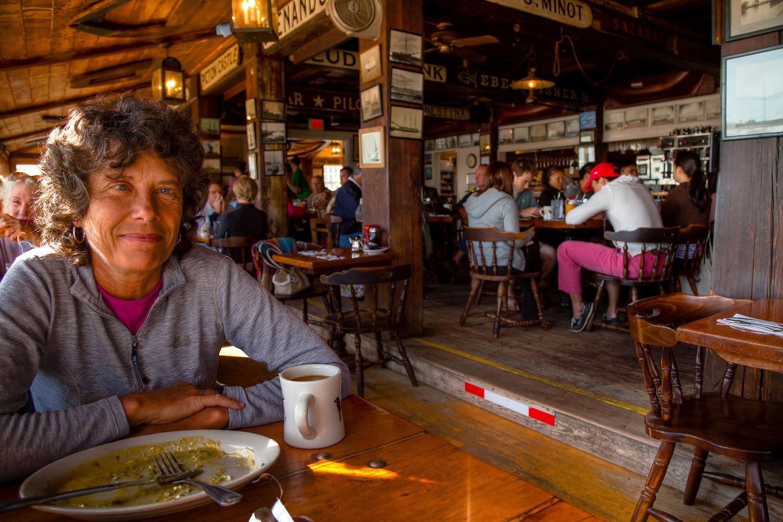Lolo post breakfast at the Black Dog Tavern