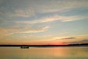 Sunset over Sengekontacket Pond