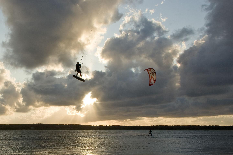 Kite Boarders on Sengekontacket Pond